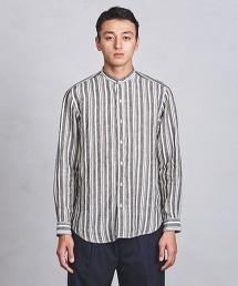 UASB 亞麻多彩直條紋圓領襯衫