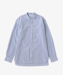 USCM 藍色細條紋立領襯衫