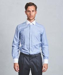UADT 多色條紋牧師領襯衫