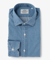 UDET 粗藍布短款牧師領襯衫