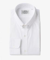 UDET 白色府綢圓形領片針孔領襯衫