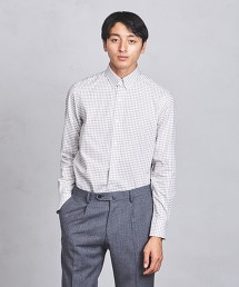 UADT 格紋襟扣領襯衫