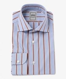 <SOVEREIGN>  多彩條紋寬角領襯衫
