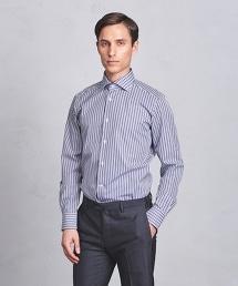 <SOVEREIGN> ALT/ST WIDE 條紋寬角領襯衫