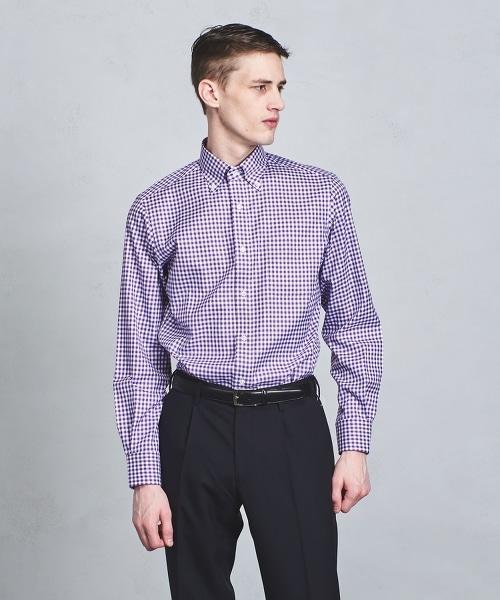 □UADT EASY CARE 小方格紋扣領襯衫