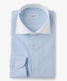 <ERRICO FORMICOLA>D HO/TAL CLE WD藍色寬角領襯衫