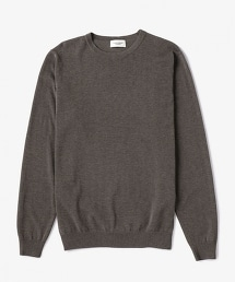 USET 棉質高密度針腳圓領針織衫