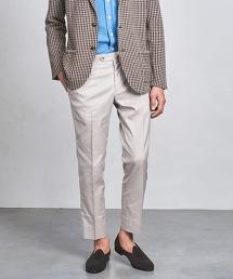 □UADT 輕薄梳毛(Tropical)單褶錐形褲