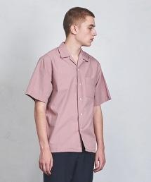 UAST 素面開領短袖襯衫