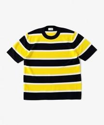USCM CO/SI 橫條紋圓領半袖針織衫
