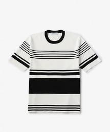 UAST CO/PE 橫條紋圓領短袖針織衫