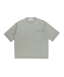 UAST 針織 橫條紋 BIG T恤