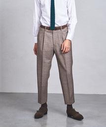 ◇UAST 格紋 寬版 1P西裝褲