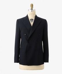 UADT 羊毛滌綸雙排三釦西裝外套