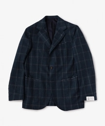 <ERRICO FORMICOLA> W/P 2PTH 單排三釦窗格紋西裝外套