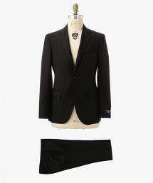 UDET 黑色嗶嘰布單排雙釦舒適西裝套裝