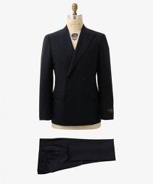 UADT 藏青雙排三釦西裝套裝
