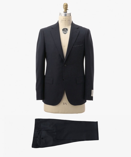 ○UDET 塔斯馬尼亞羊毛鳥眼圖案單排雙釦舒適西裝外套