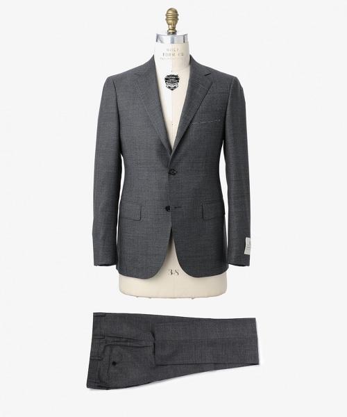 UADT 塔斯馬尼亞羊毛細格紋單排三釦西服套裝