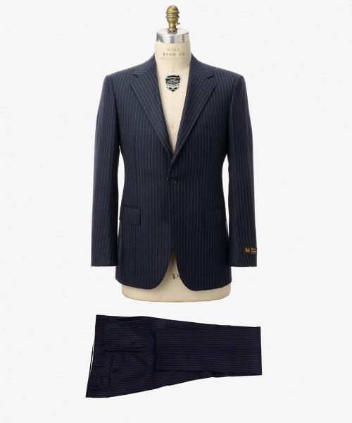 <SOVEREIGN>  細條紋單排三釦西裝套裝