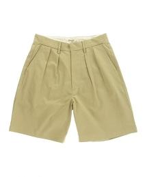 <AURALEE> L/CHINO WIDE 寬版短褲