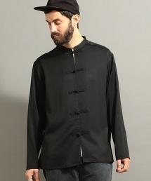 BY 緞子 中式 襯衫