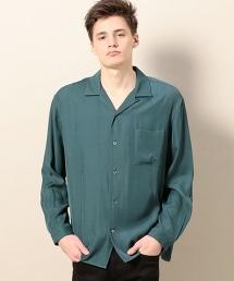 BY 人造纖維 敞領 襯衫