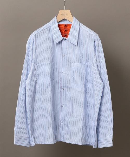【特別訂製】 <RED KAP> BLUE STRIPE SHIRT 藍色條紋襯衫