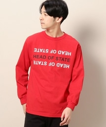 <HEAD OF STATE> RED L/S TEE/T恤