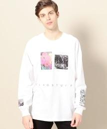 <F-LAGSTUF-F> FLOWER LONG SLEEVE T-SHIRT/花朵相片印花長袖T恤