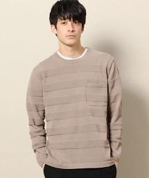 BY 雙反面編織橫條紋針織衫