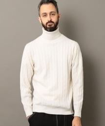 BY L&F 喀什米爾羊毛麻花高領針織上衣