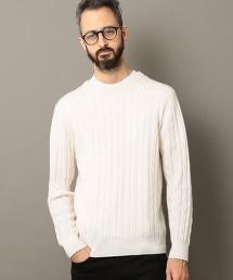 BY L&F 喀什米爾羊毛麻花針織上衣