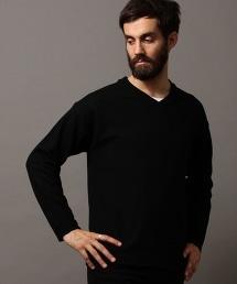 BY 輕柔羊毛寬版V領針織衫 -MADE IN JAPAN-
