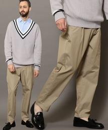 BY Yarn Dyed 斜紋布寬版時尚輕便褲EASY PANTS
