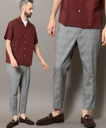 BY TW 英倫格紋單摺九分褲