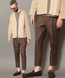 BY 射擊俱樂部格紋 1P 寬版錐形褲