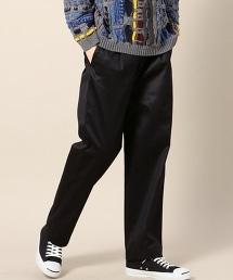 BY 絲光加工單褶寬版西裝褲 -日本製-
