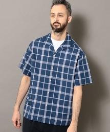 BY 格紋 開領 寬版 襯衫