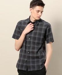 BY 格紋短袖襯衫