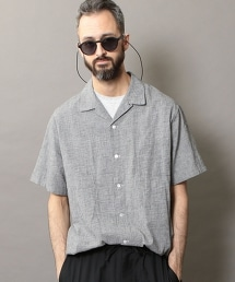 BY 千鳥格開領寬版襯衫 -MADE IN JAPAN-