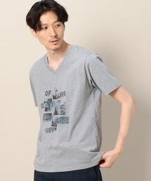 BY SURROUNDING 照片印刷 V領 T恤