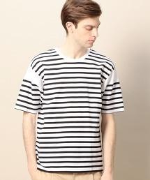 BY 橫條紋 寬版 棉質T恤 -MADE IN JAPAN-