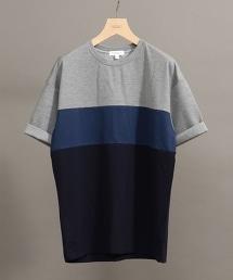 BY 塊狀配色羅馬布寬版T恤 -MADE IN JAPAN 日本製-