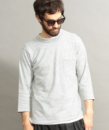 BY 可水洗條紋七分袖針織衫