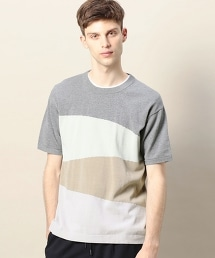 BY 色塊棉質針織T恤