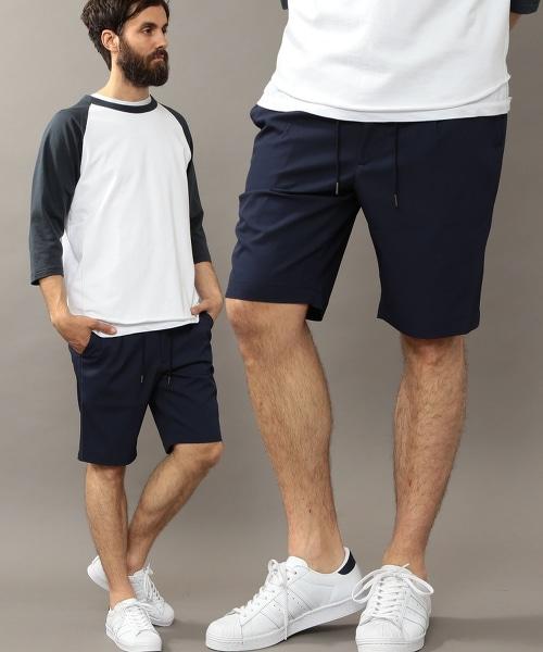 BY 乾爽棱紋織布輕便短褲