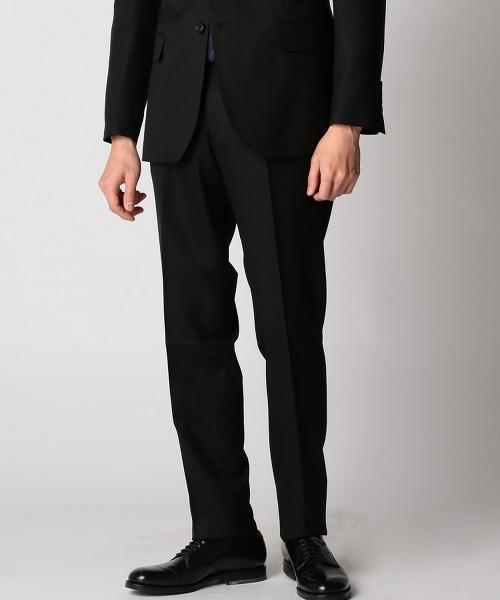 BY Dress 黑色DOESKIN 單摺西裝褲-Narrow