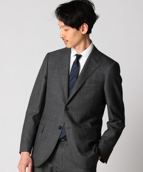BY Dress 灰色格紋單排雙釦西裝外套-Narrow