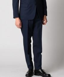 BY Dress 品藍色 Chambray嗶嘰無褶西裝褲-Tiny